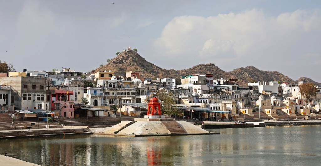 Ghats and temples, Pushkar Lake