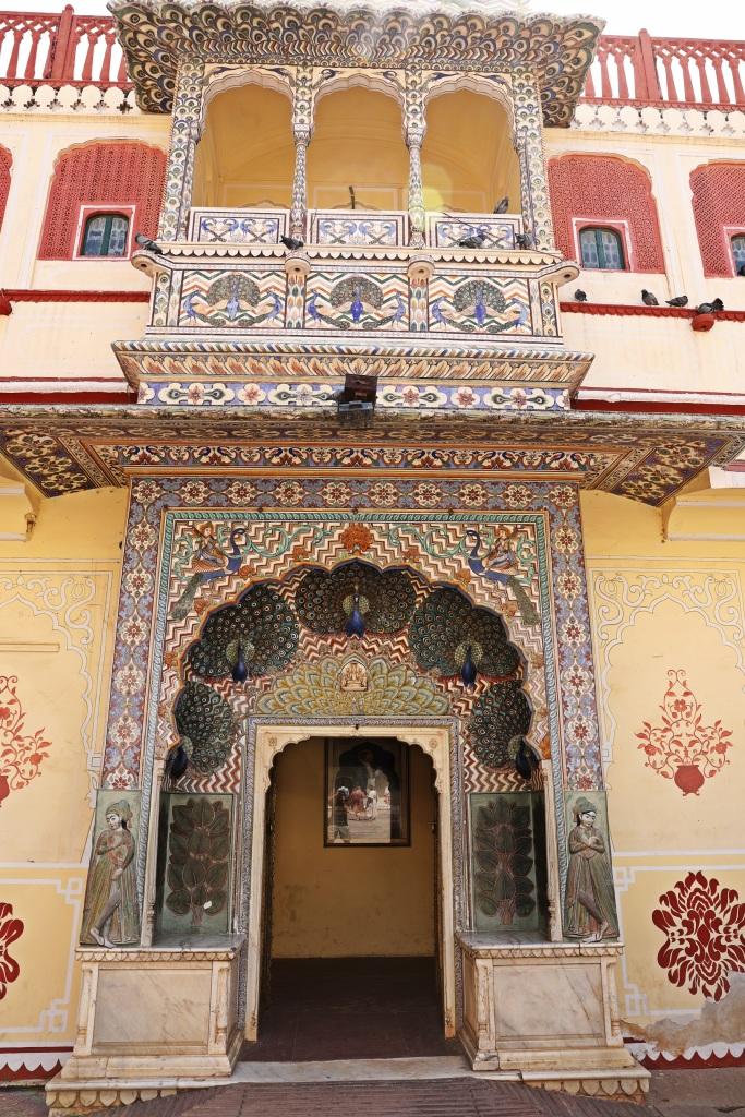Pritam Niwas Chowk, Peacock Gate, City Palace, Jaipur