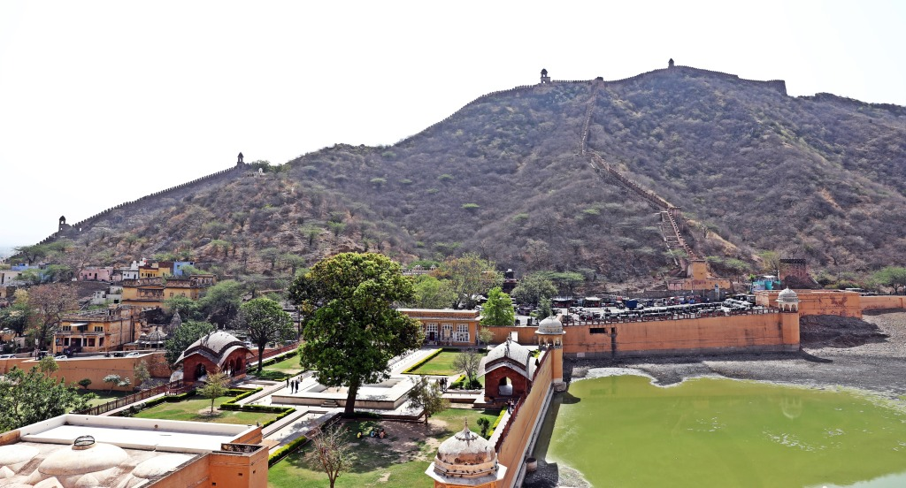Gardens below Amer Fort