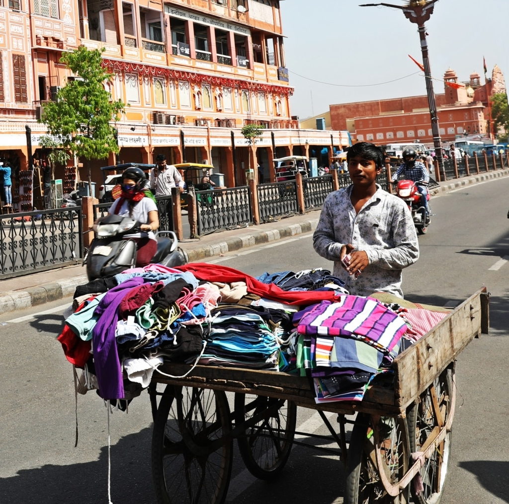 Shirt salesman, Pink City Market, Jaipur