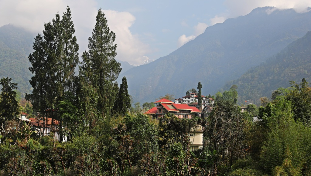 Yuksom with mountain views, Sikkim