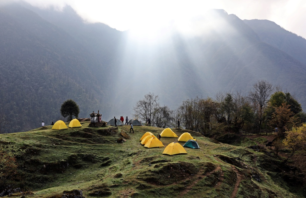 Sunrise, Sachen Camp, Goecha La Trek