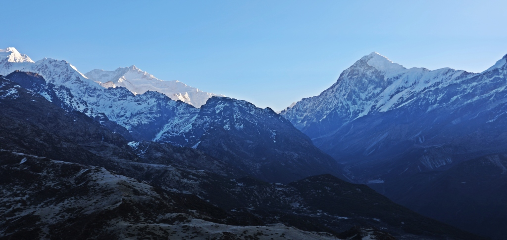 Kanchenjunga (centre left) from Dzongri Lookout, Goecha La Trek