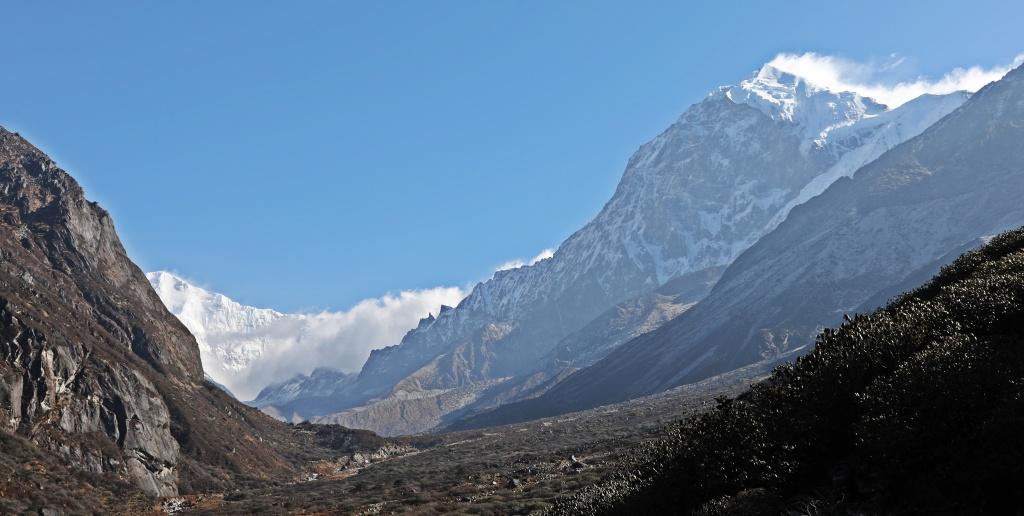 View down the valley, Day 4, Goecha La Trek