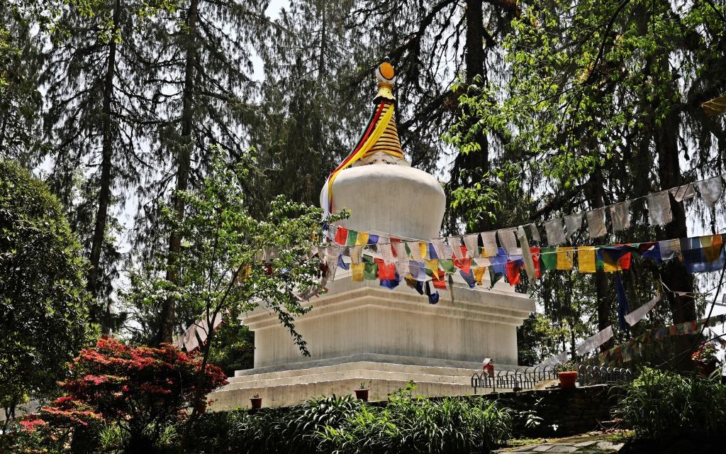 Stupa, Norbugang Park, Yuksom