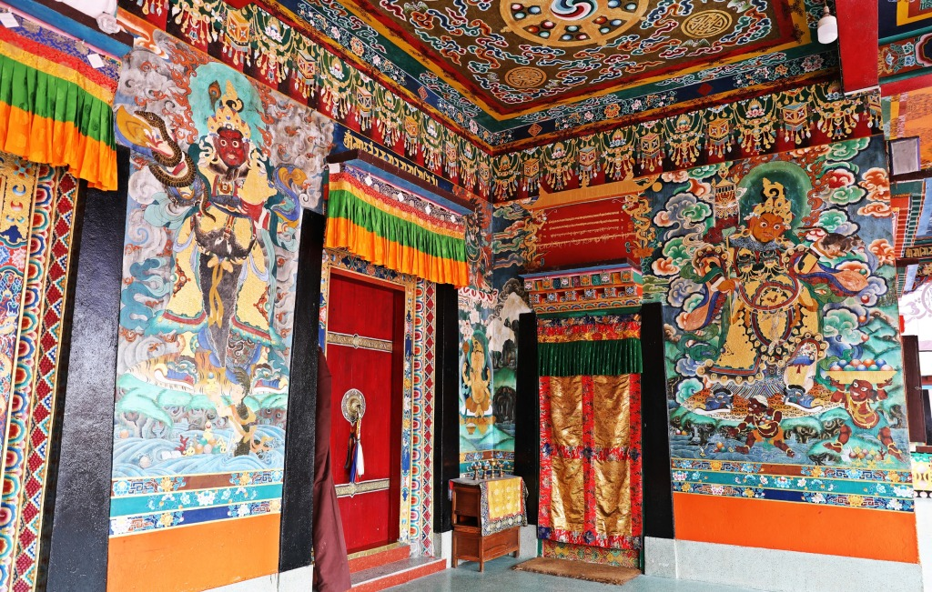Colourful entrance, Rumtek Gompa