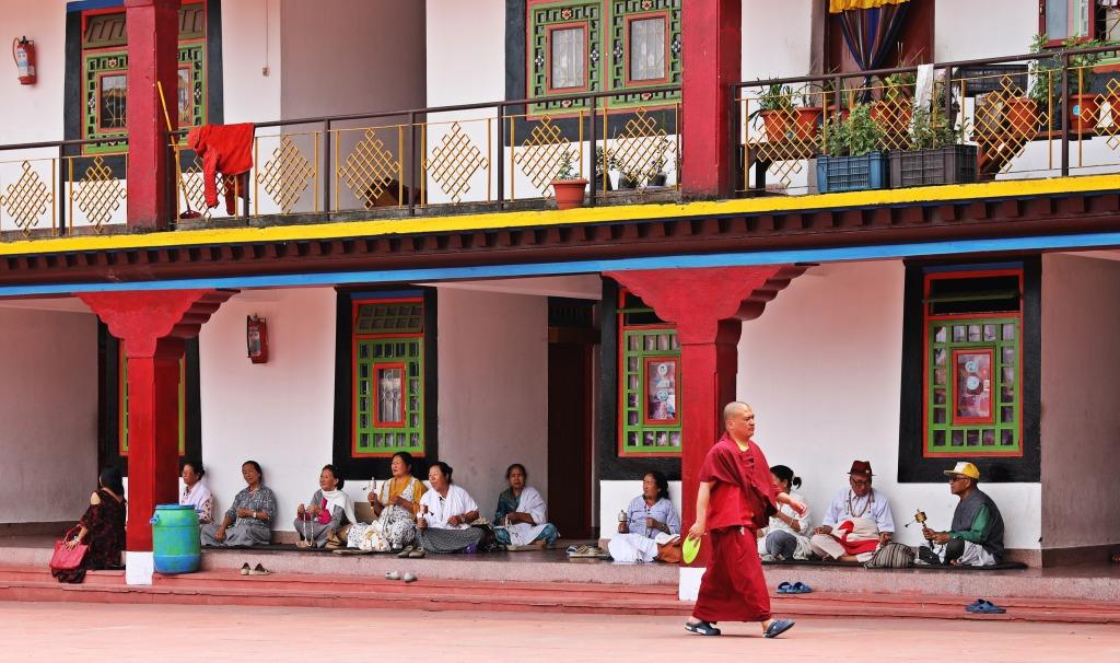 Courtyard, Rumtek Gompa