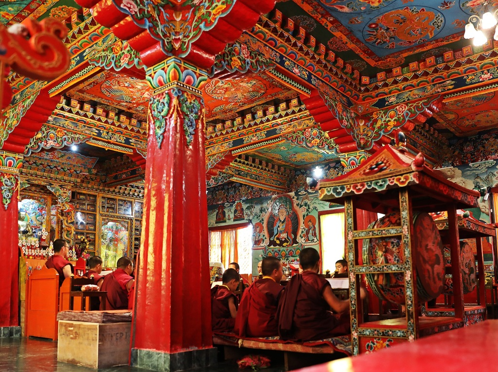 Puja in Old Rumtek Gompa