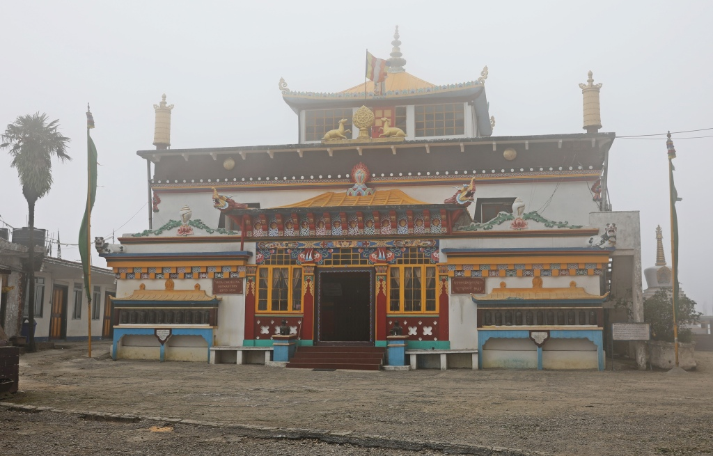 Gompa in clouds, Ghum