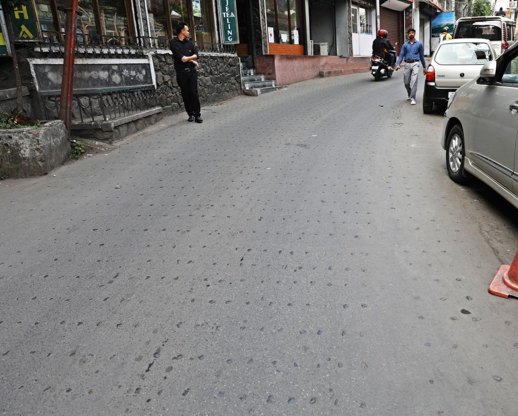 Studded streets, Darjeeling