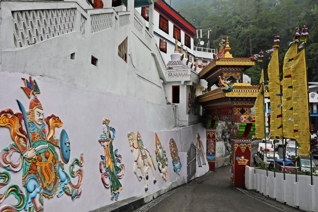 Frescoes, Dali Gompa, Darjeeling
