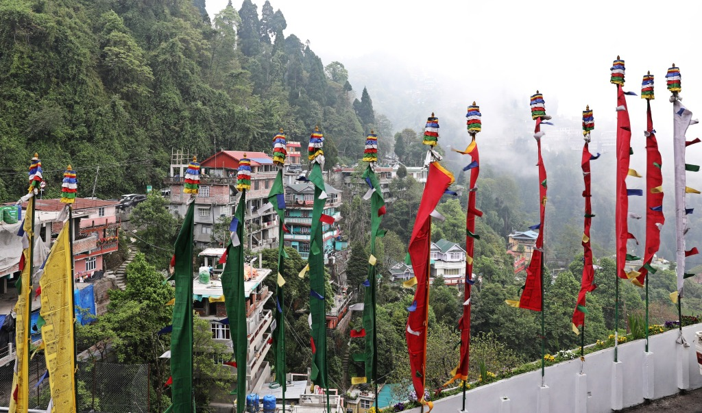 Prayer Flags, Dali Gompa, Darjeeling