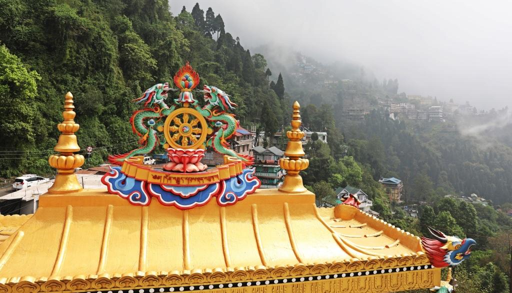 Roof top, Dali Gompa, Darjeeling