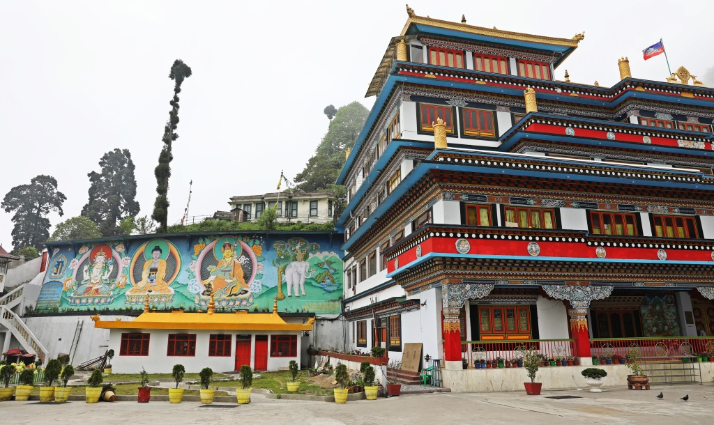 Frescoes and Audience Hall, Dali Gompa, Darjeeling