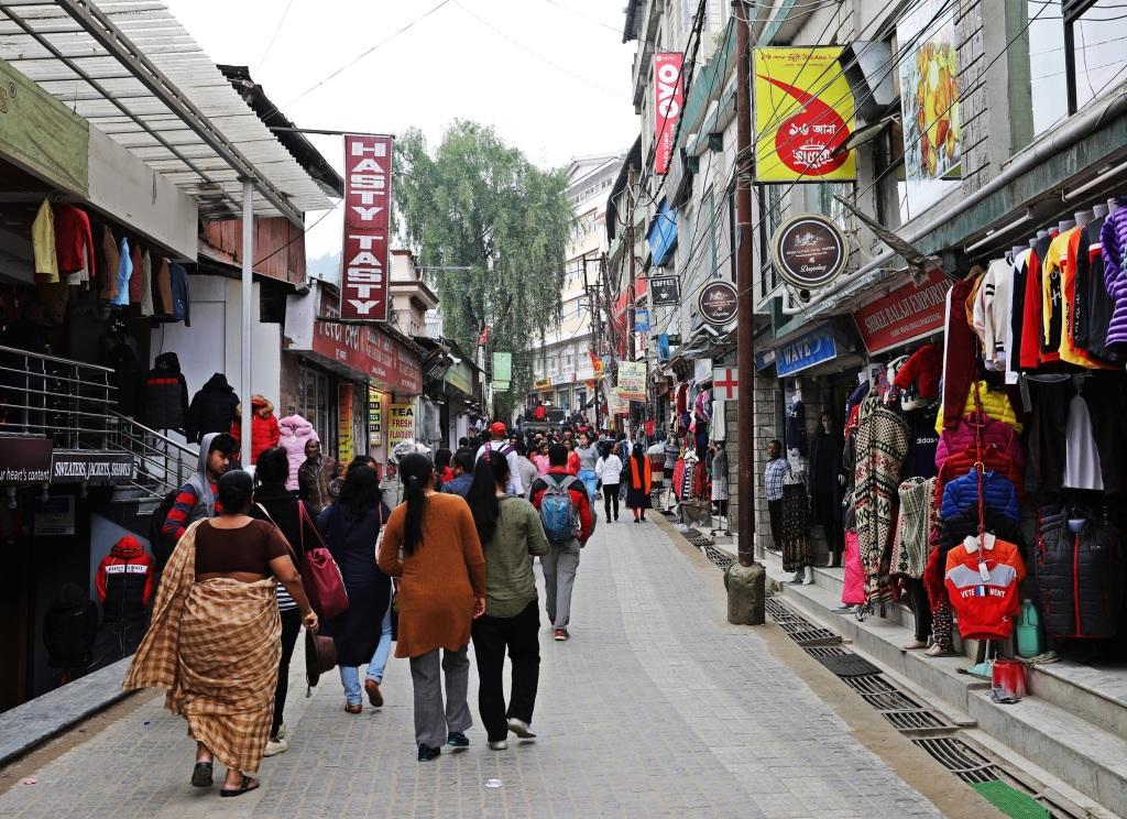 Chowrasta Mall (Pedestrian Mall), Darjeeling