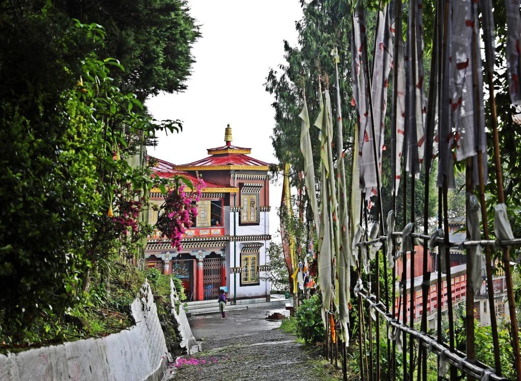 Entrance to Bhutia Busti Gompa, Darjeeling