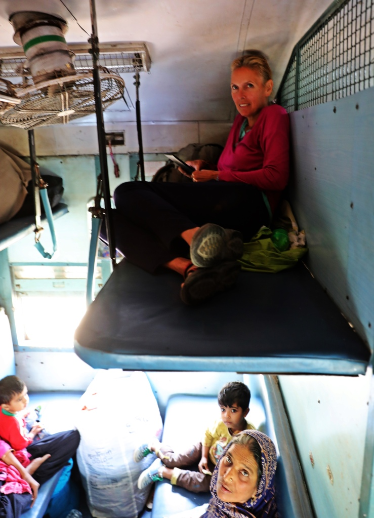 SL class on an Indian train
