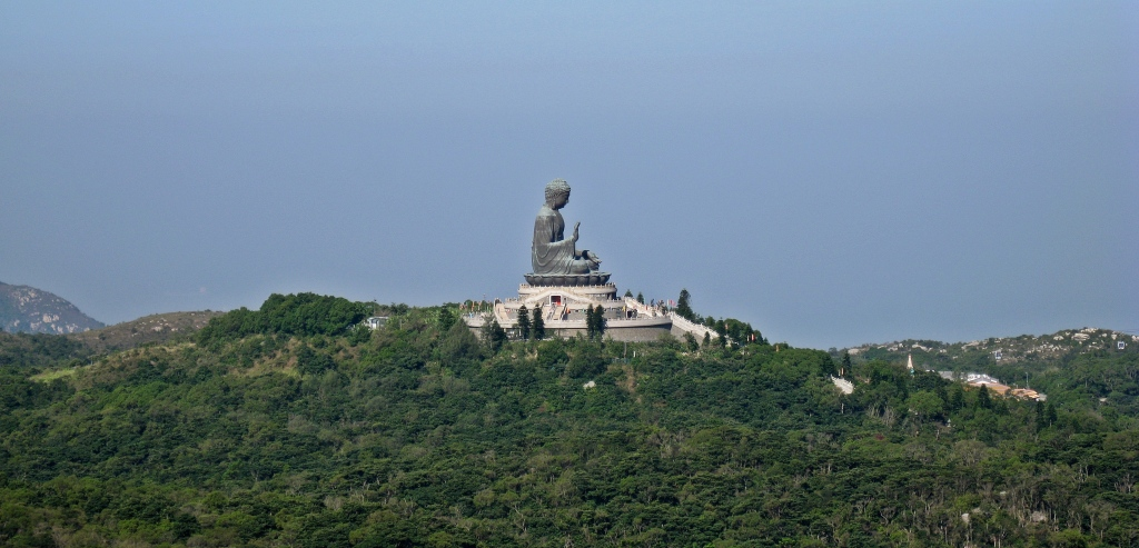 Big Buddha from Lantau Peak Trail, Hong Kong