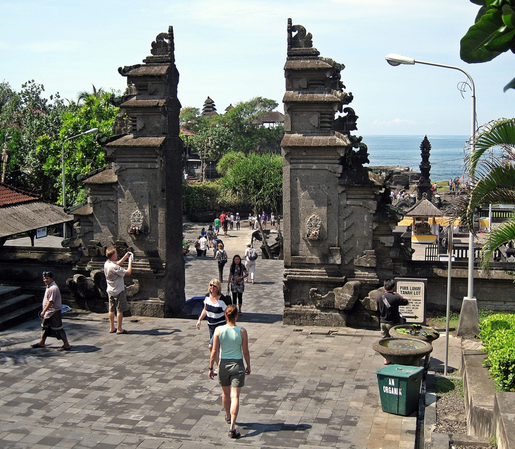 Balinese Gate, Tanah Lot Temple, Bali