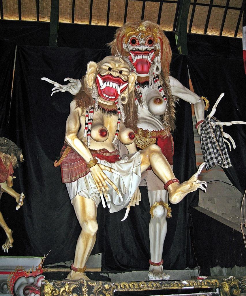 Statues in Ogoh Ogoh Bali Museum