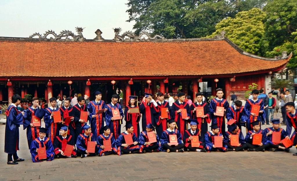 Grad students, Temple of Literature, Hanoi