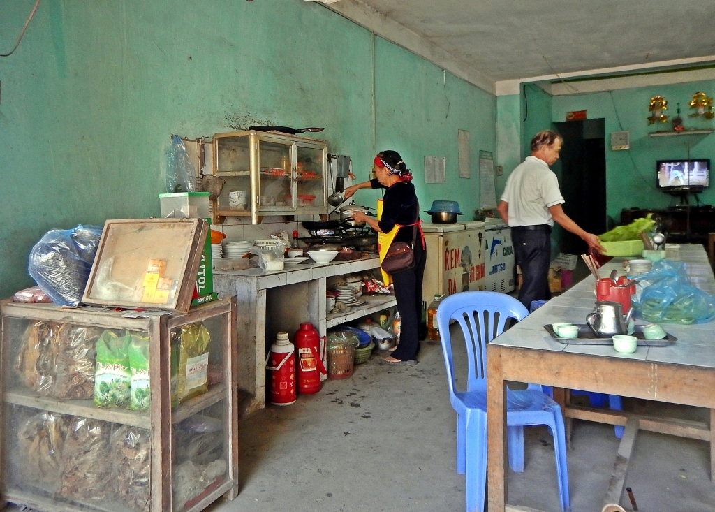 Restaurant kitchen, northern Vietnam
