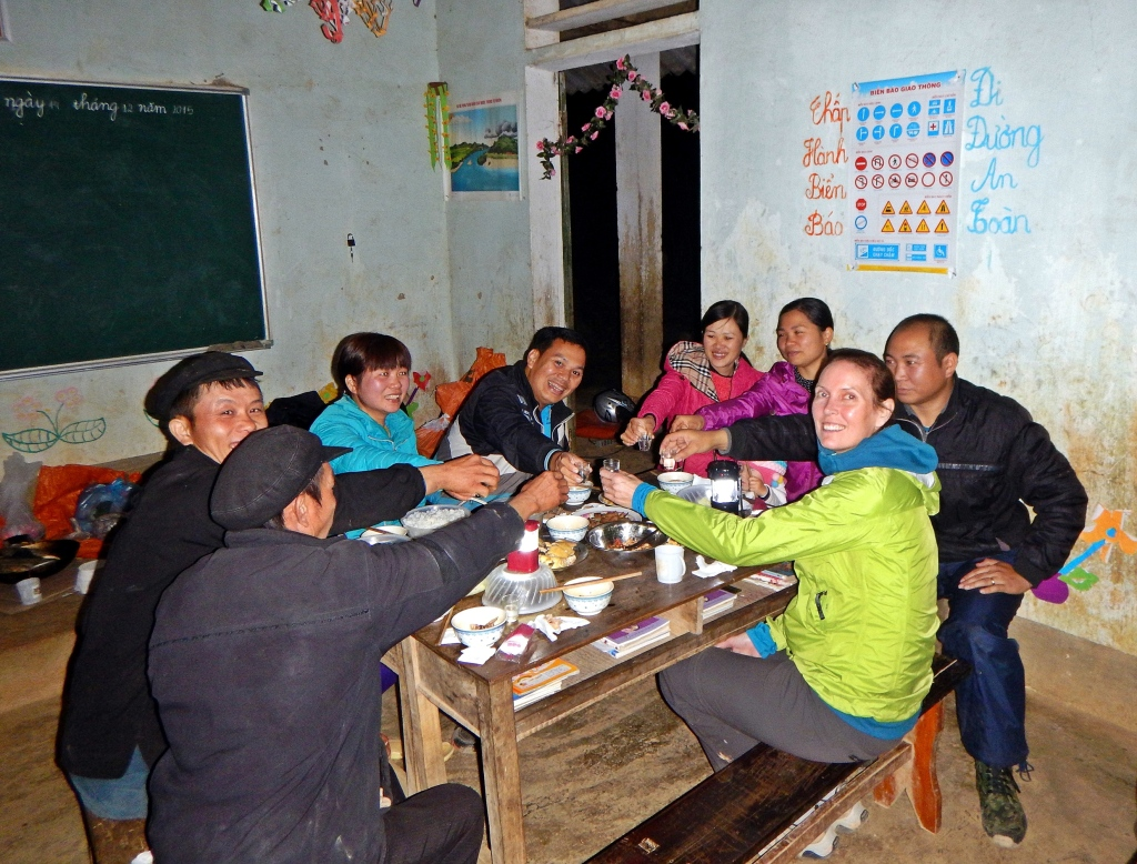 Dinner with teachers, Dong Van trek