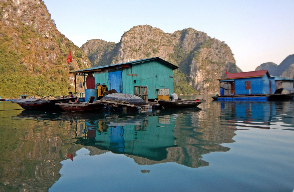 Floating village, Halong Bay, Vietnam