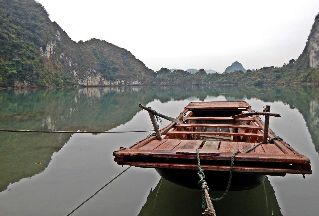 Secret lake, Halong Bay, Vietnam