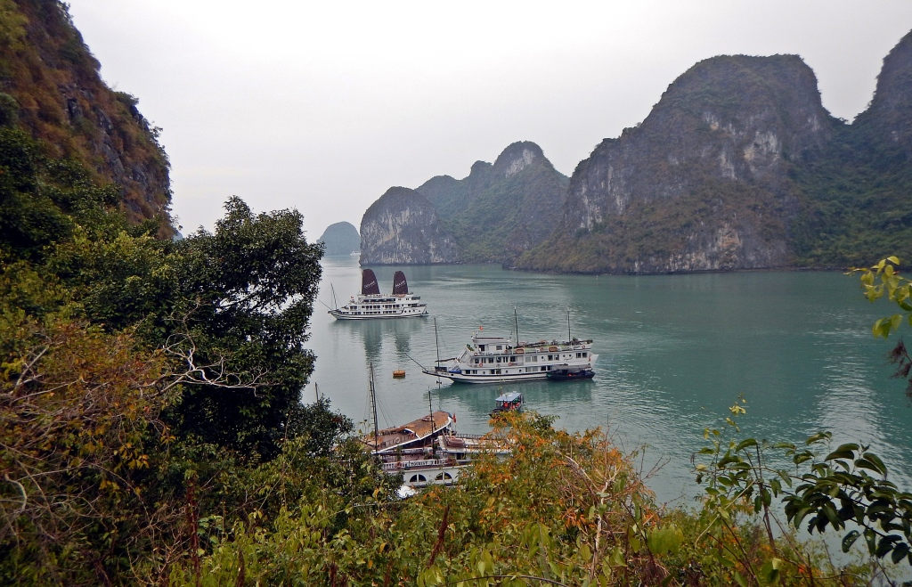 View from the secret lake, Halong Bay, Vietnam