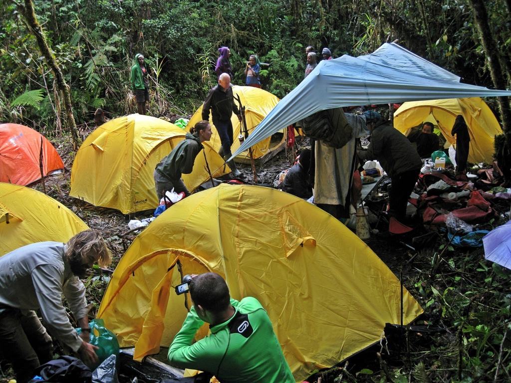 Campsite, Carstensz Pyramid Trek