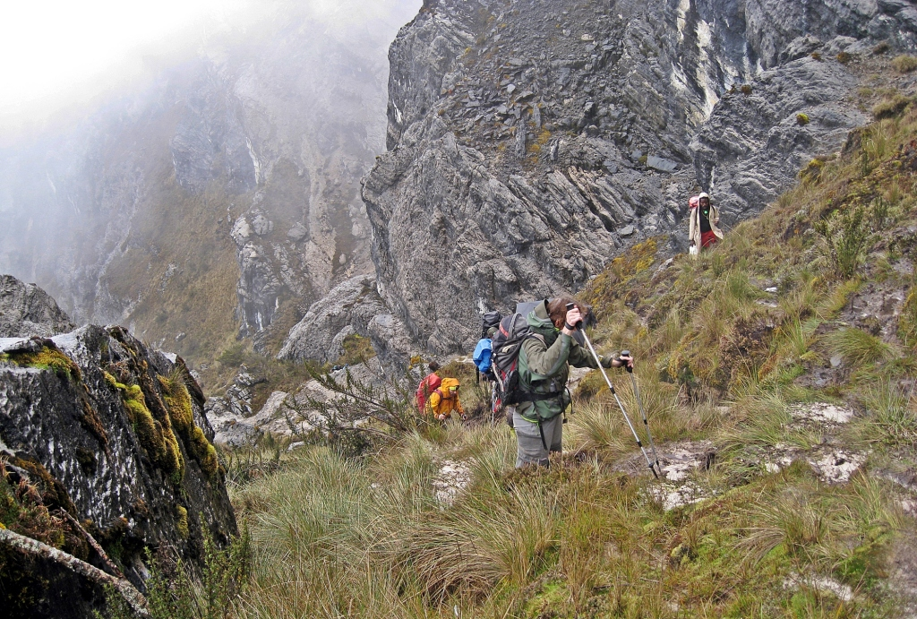 Steep trail, Carstensz Pyramid Trek