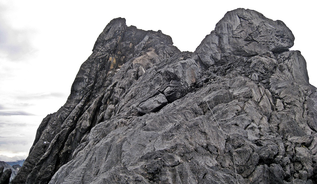 Carstensz Pyramid summit seen from below