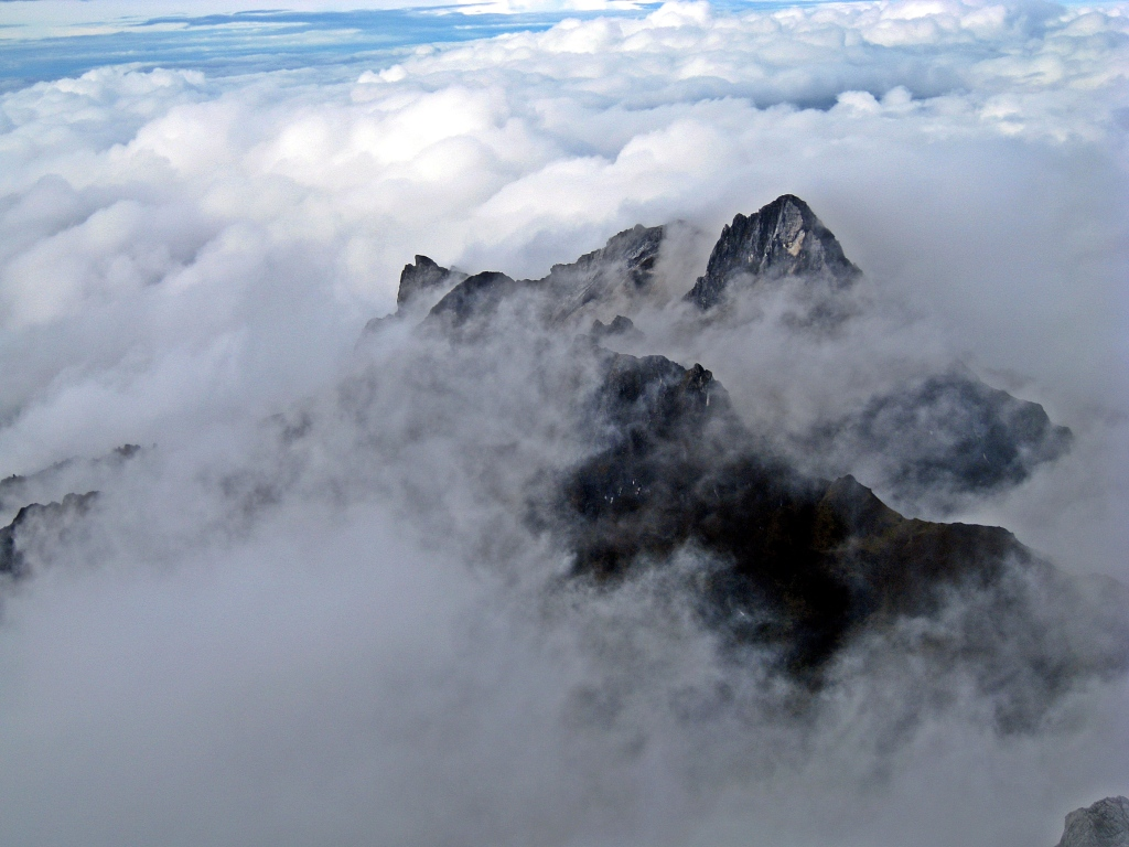 View from Carstensz Pyramid ridge