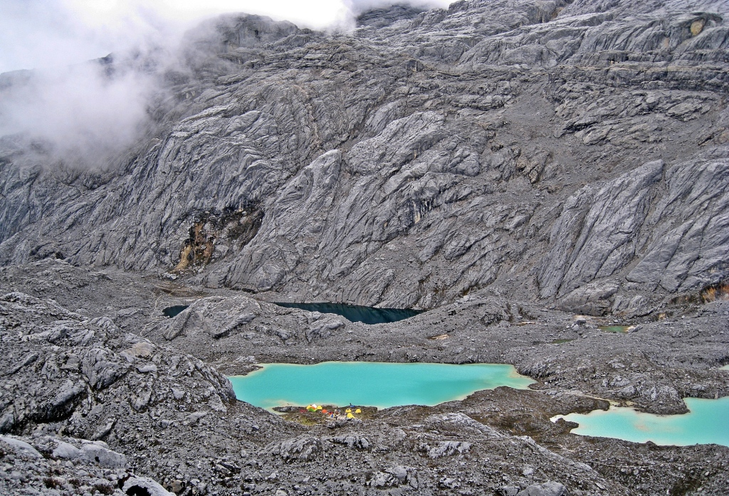 Basecamp from far above, Carstensz Pyramid
