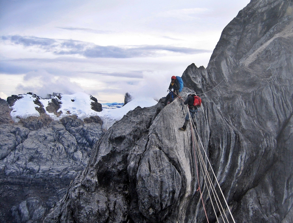 Tyrolean Traverse, Carstensz Pyramid Trek