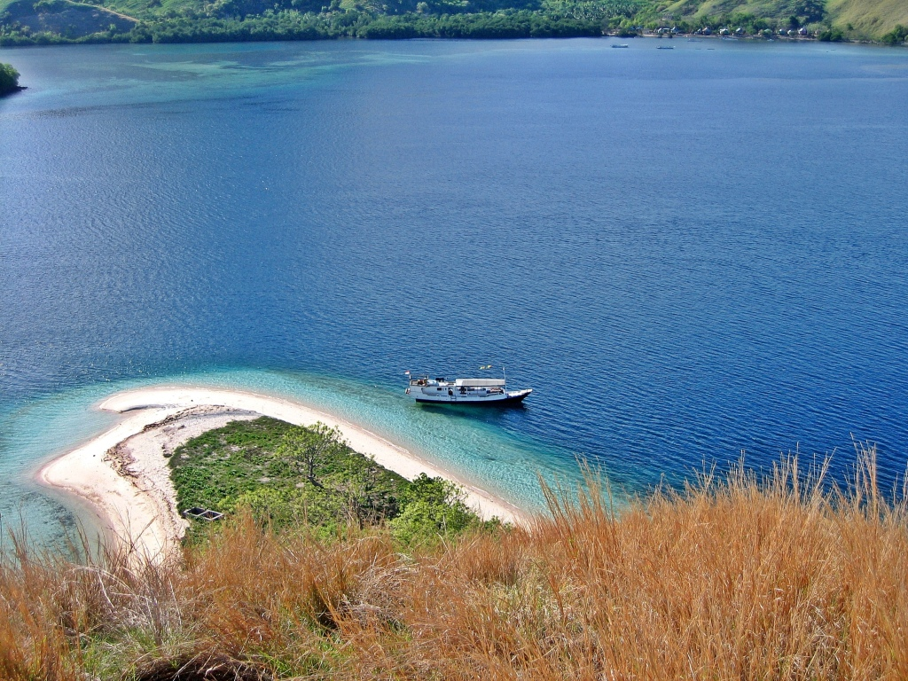 View from an island hilltop, Flores Sea