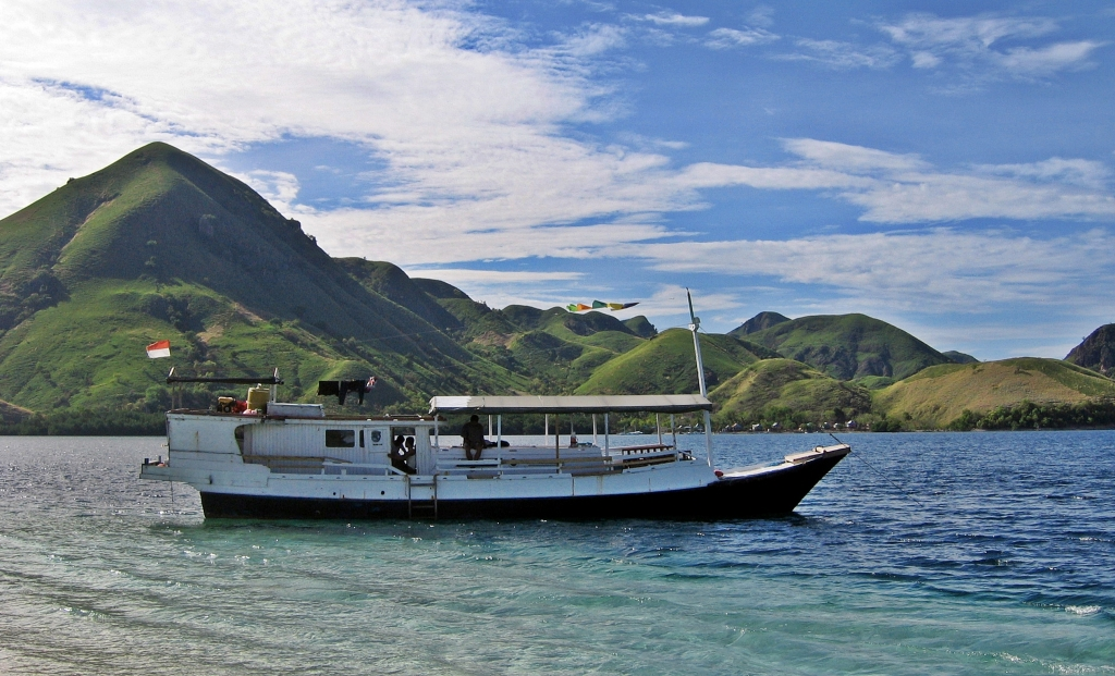 Our rustic cruise boat, Flores Sea