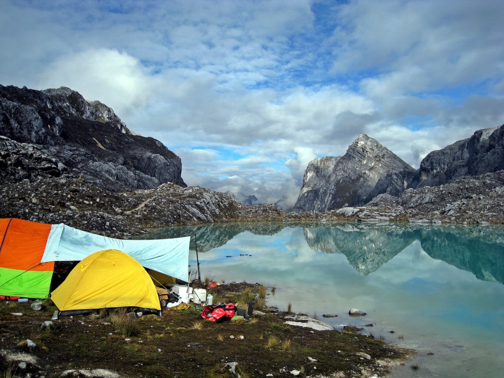 Base camp, Carstensz Pyramid