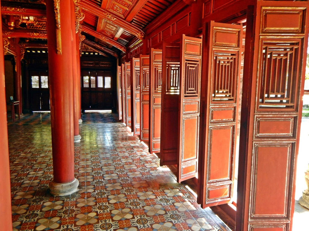 Wooden shutters, The Citadel, Hue