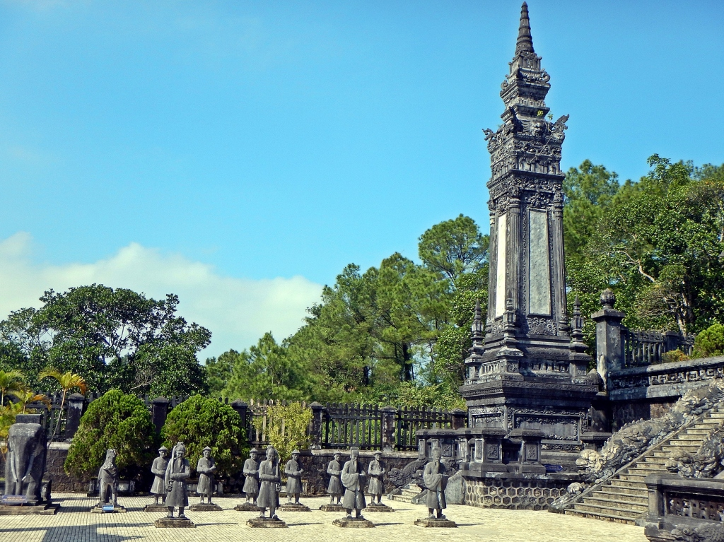 Guards outside the Tomb of Emperor Khai Dinh, Hue