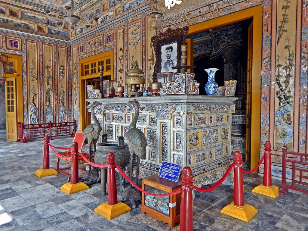 Interior of the tomb of Emperor Khai Dinh, Hue
