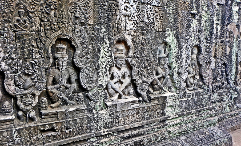 Bas relief, Preah Khan