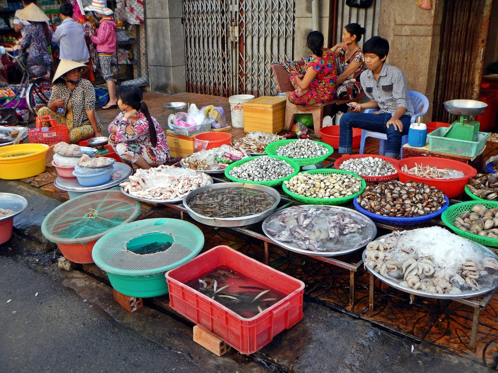 Can Tho market, Vietnam