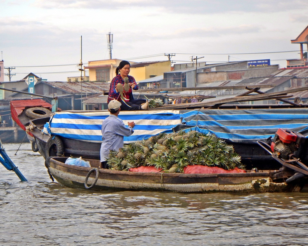 Pineapple sales, Cai Rang Floating Market