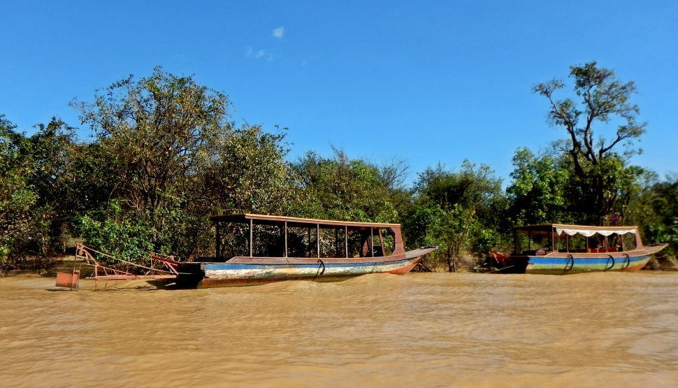 Wooden boats, Tonle Sap
