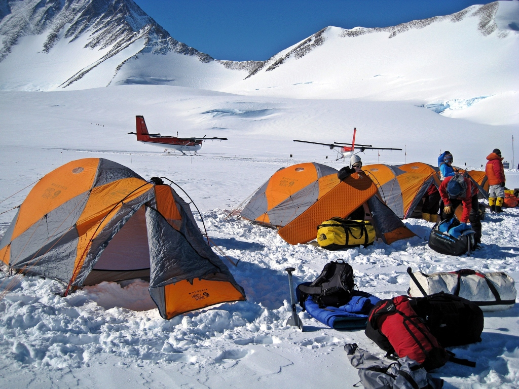 Twin Otters at Vinson Massif Basecamp