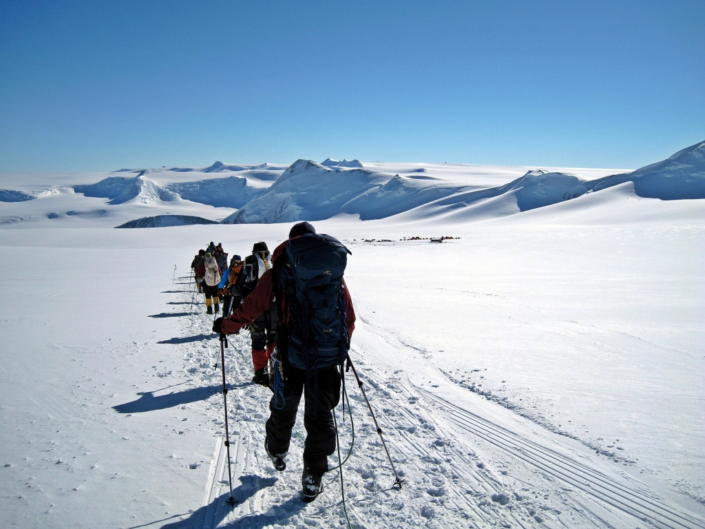 Trekking to Low Camp