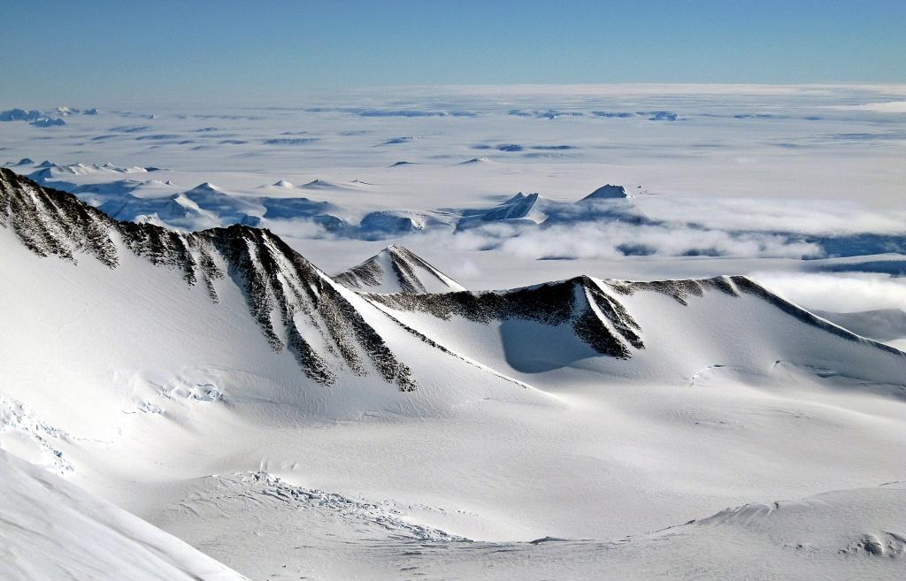 View from Vinson Massif summit ridge