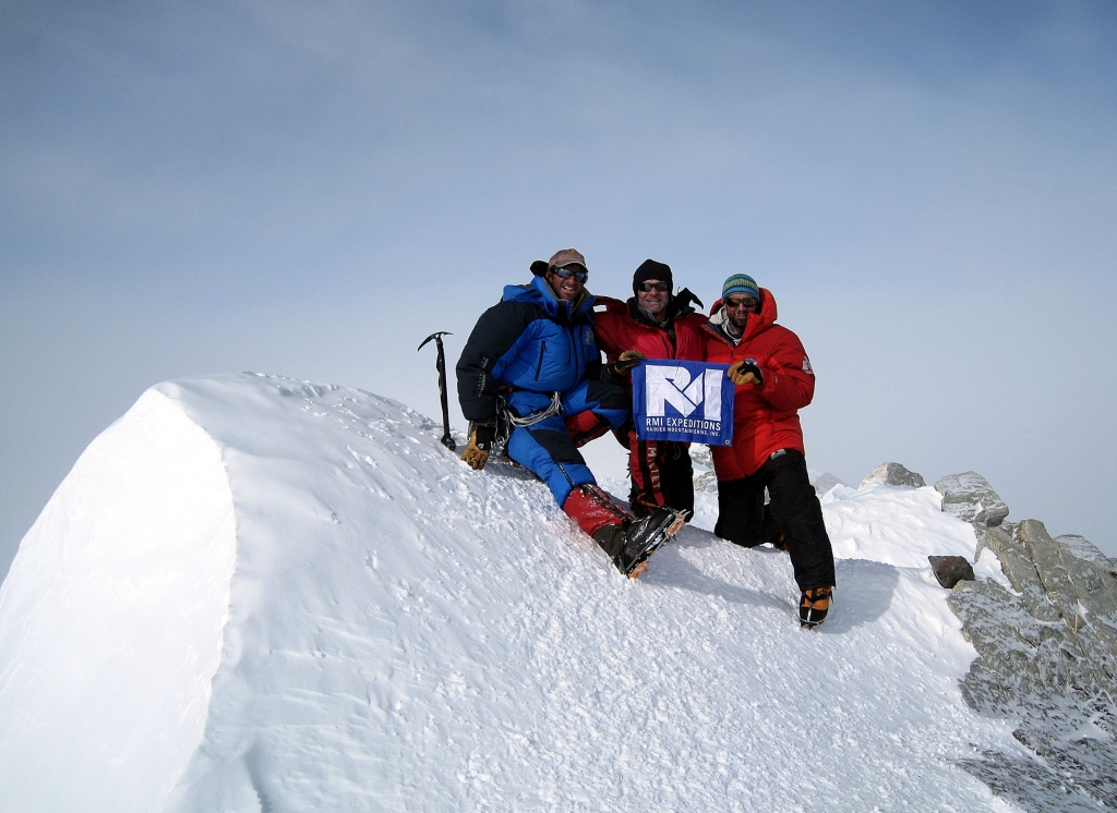 Vinson Massif summit with guides Dave and Seth